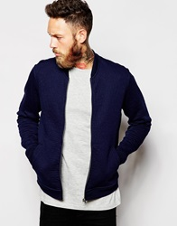 Lee Sweat Bomber Jacket Jacquard Quilt Darkink