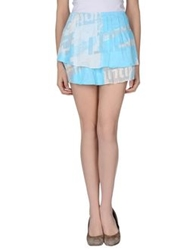 Custo Barcelona Mini Skirts Azure