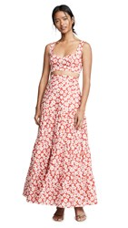 Fame And Partners The Delancy Set Chelsea Floral Red