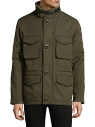 Rainforest Button Through Heated Jacket Olive