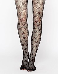 Leg Avenue Micro Net Star Tights Black