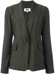 Maison Martin Margiela Mm6 Shawl Lapel Blazer Green