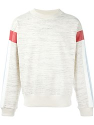 Gosha Rubchinskiy Striped Sleeve Sweatshirt Nude And Neutrals