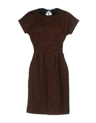 Max And Co. Knee Length Dresses Brown