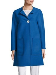 Piazza Sempione One Button Coat Blue