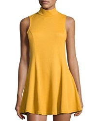 Lucca Couture Moon High Neck Tank Dress Yellow