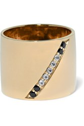 Elizabeth And James Paxton Gold Tone Crystal Ring