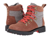 Toms Summit Boot Rawhide Suede Grey Wool Women's Hiking Boots Brown