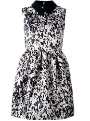 Mcq By Alexander Mcqueen Pony Print Party Dress Black
