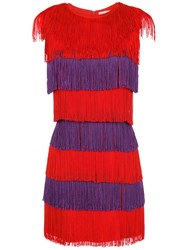 Spacenk Nk Fringed Dress Red
