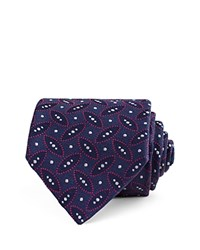 Thomas Pink Crome Geo Woven Classic Tie Navy Red