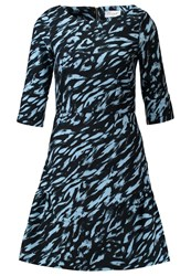 Closet Summer Dress Multi Dark Blue