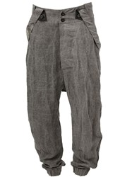 Lost And Found Suspender Trousers Grey