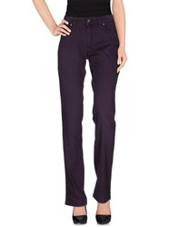 Trussardi Jeans Denim Denim Trousers Women Dark Purple