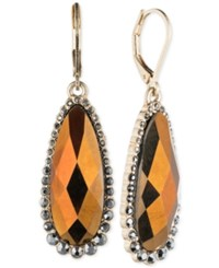 Lonna And Lilly Elongated Stone Drop Earrings Gold