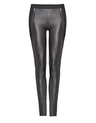 Dex Faux Leather Leggings Black
