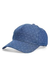 Women's Bp. Polka Dot Chambray Baseball Cap