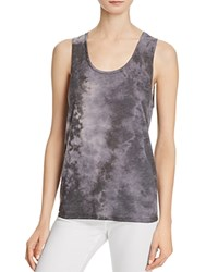 Alice Olivia Reginald Tie Dye Tank Black Gray