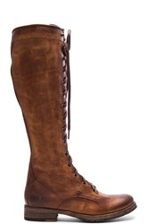 Frye Melissa Tall Lace Boot Cognac