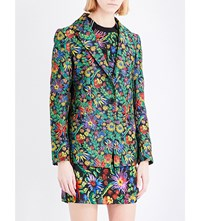 3.1 Phillip Lim Single Breasted Floral Cloqua Blazer Midnight