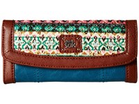 The Sak Iris Flap Wallet Teal Tribal Wallet Handbags Multi