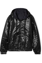 Tomas Maier Reversible Quilted Shell Hooded Jacket Black