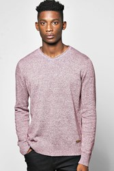 Boohoo Yarn Jumper With Beagle Neck Line Burgundy