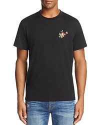 7 For All Mankind Floral Graphic Crewneck Short Sleeve Tee Black