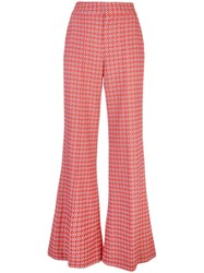 Alice Olivia Printed Palazzo Trousers Red