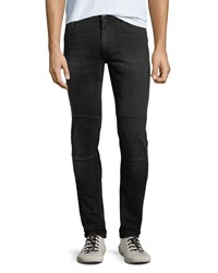 Belstaff Tattenhall Skinny Washed Denim Moto Jeans Black