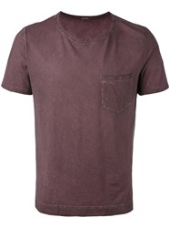 Massimo Alba Pocketed T Shirt Men Cotton L Red