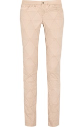Isabel Marant Stanford Patchwork Mid Rise Straight Leg Jeans