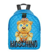 Moschino Quilted Bear Backpack Female Blue