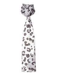 Lola Rose Rubik Leopard And His Spots Supersoft Scarf Grey