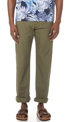 Naked And Famous Rinsed Oxford Chino Pants Green