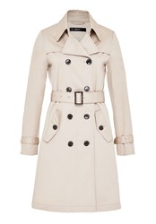 Hallhuber Trench Coat With Pleating White