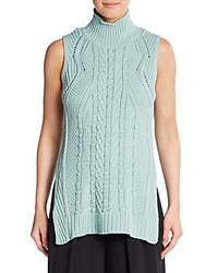 1.State Cable Knit Turtleneck Tunic Sea Glass