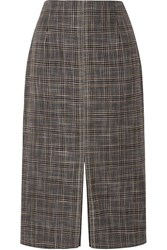Roland Mouret Moka Checked Bamboo Skirt Black