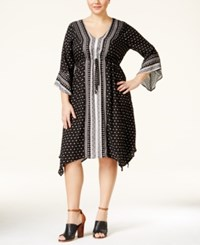 American Rag Plus Size Mixed Print Peasant Dress Only At Macy's