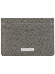 Hugo Boss Signature S Card Holder Men Calf Leather One Size Grey