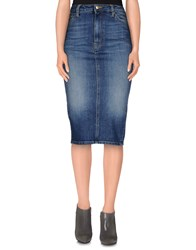Truenyc. Denim Denim Skirts Women Blue