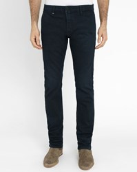 Ikks Grey Micro Pattern Tapered Jeans