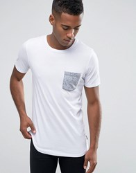 Jack And Jones T Shirt With Contrast Pocket White