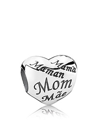Pandora Design Pandora Charm Sterling Silver Mother's Heart Moments Collection