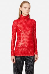Y Project Holographic Turtleneck Red