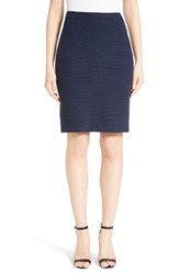 St. John Women's Collection Micro Boucle Pencil Skirt Navy