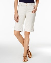 Charter Club Cuffed Bermuda Shorts Only At Macy's Sand Combo