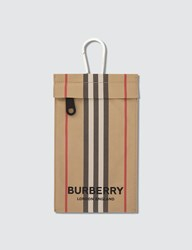 Burberry Iconic Stripe Pouch Beige