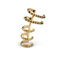 Kasun Croc Ear Cuff Yellow Gold
