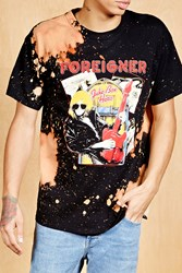 Forever 21 Foreigner Graphic Band Tee Black Tan